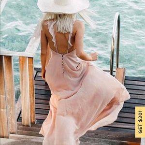Lulus Meteoric Rise Blush Dress